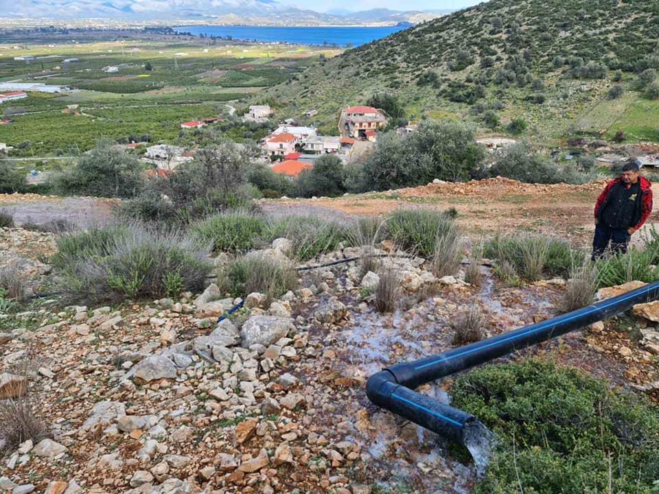 Νερό στο Σκαφιδάκι από τις πηγές της Λέρνας