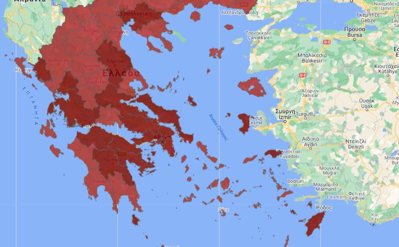 120 κρούσματα στην Πελοπόννησο-Αργολίδα και Κορινθία κρατάνε τα σκήπτρα